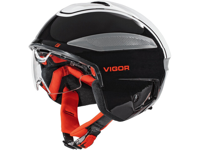 Cratoni Vigor S-Pedelec Helm black/white/red gloss